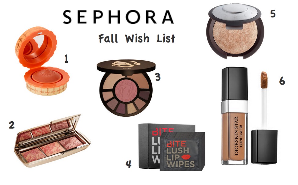 Sephora Fall Wishlist