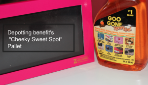 "Depotting benefit's ""Cheeky Sweet Spot"""