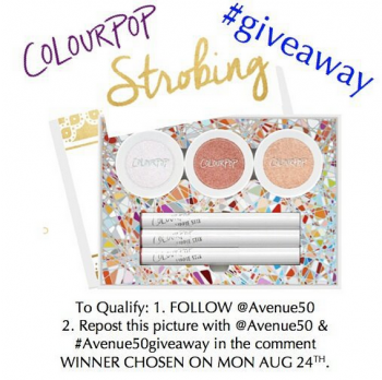 Colour Pop Strobing Giveaway  ! ! !