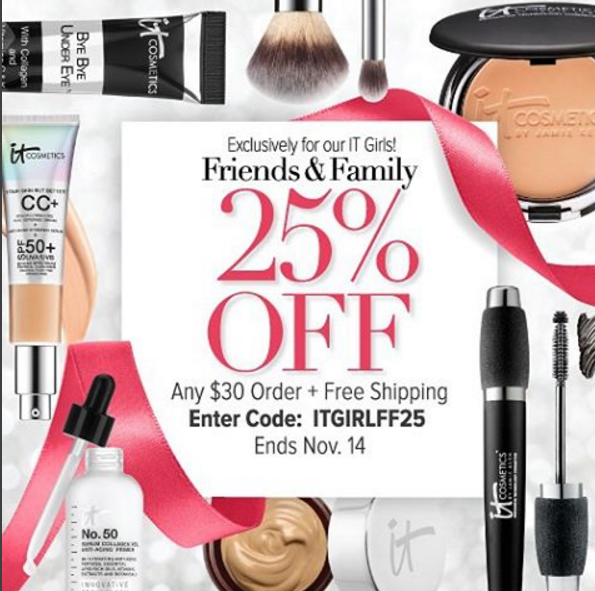 IT Cosmetics Friends & Family Sale
