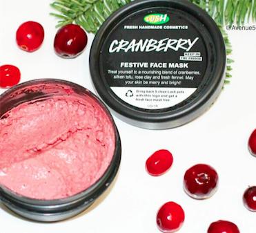 Lush Cosmetics Cranberry Festive Face Mask