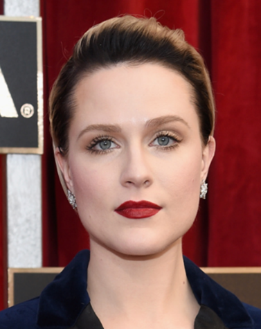 Evan Rachel Wood's at the SAG Awards dominates the Red Carpet in a Blue Velvet Pantsuit and It Cosmetics