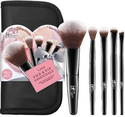 Your Face & Eye Essentials Mini 5-Piece Face & Eye Travel Brush Set