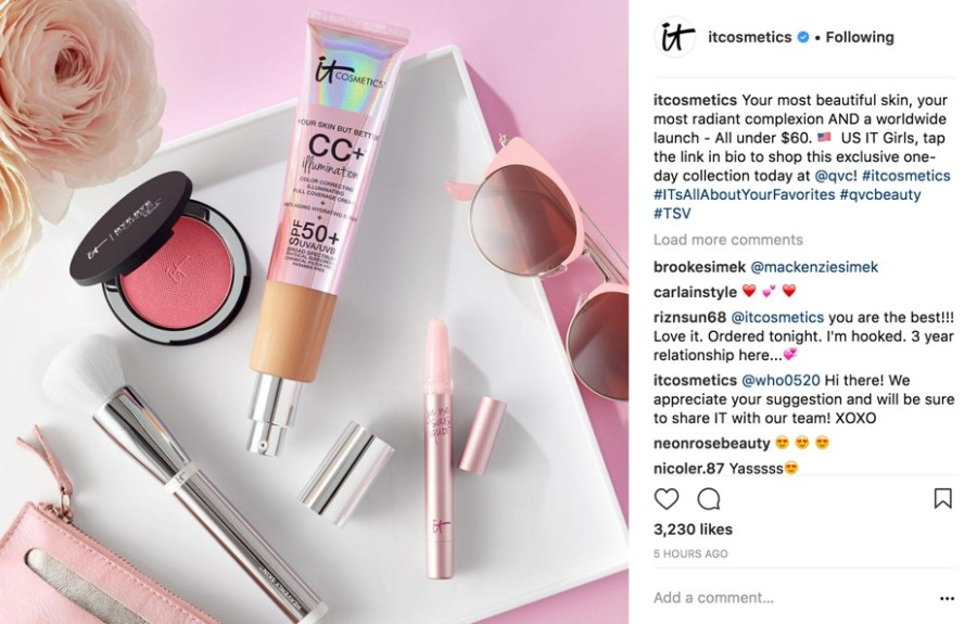 IT Cosmetic's QVC TSV